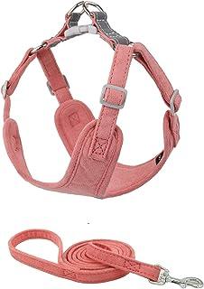 BONAWEN Puppy Harness Leash Set Lightweight Adjustable No Pulling Dog Vest Heavy Duty