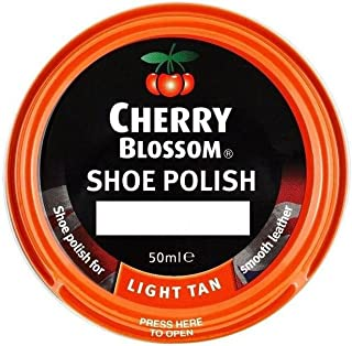 cherry blossom light tan shoe polish