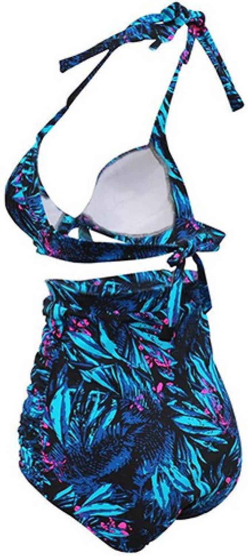 CHENG Bikini Bikinis Set Print Female Print Hohe Größe Bikini Set Badeanzug Frauen Badeanzug Push Up Bikini Set Bademode