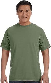 Comfort Colors Women's Garment-Dyed Front-Slit Hooded Sweatshirt (C1717),Moss-XXX-Large
