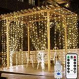 Tenda Luminosa natalizia da balcone LUCE CALDA