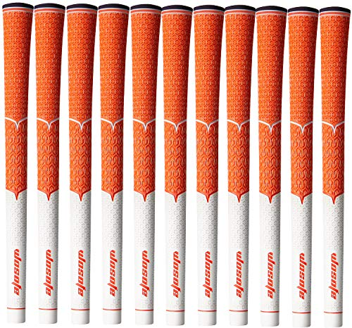 wosofe Golf Grips Club Irons Mens Standard Cord 1 Set Rubber Professional Soft Non-Slip and Wear Resistant (Orange)