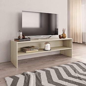 UnfadeMemory Mueble para TV,Mesa para TV,Estante de TV para Salón Dormitorio,Estilo Clásico,con Compartimento Abierto,Madera Aglomerada (Roble Sonoma, 120x40x40cm): Amazon.es: Hogar