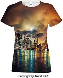 PUTIEN Lake House Decor Over Print T-Shirt,Boy T Shirt,Size XS-2XL Big,Mirror Reflectio