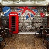 ZLYYH 3D Wallpaper Wandbild,Retro Imitation Brick Wall Rote