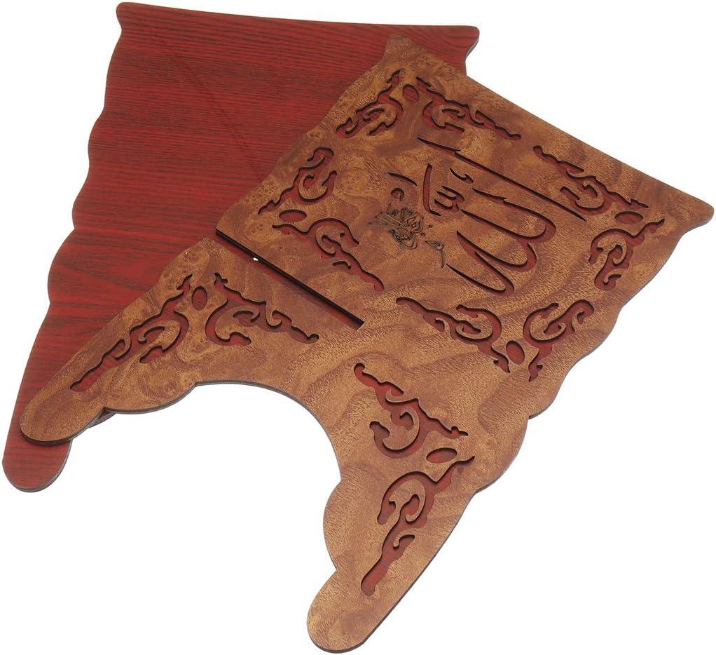 MYAMIA I Slamic Quran Koran Book Holder Soporte De Madera para Decoraciones para El Hogar del Cor/án A 5 Piezas