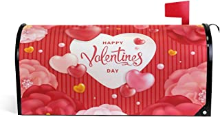 ALAZA Valentines Day Magnetic Mailbox Cover Oversized-25.5