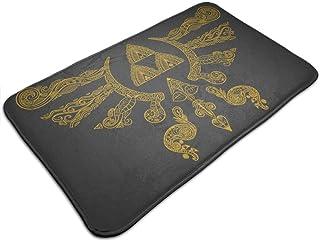 HUTTGIGH Henna Hylian Symbol Zelda - Felpudo antideslizante para puerta de entrada de baño, cocina, alfombra de 19,5 x 31,...