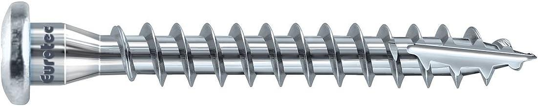 EUROTEC 945233 hoekschroef TX20, 5 x 50 mm, verzinkt staal, 250 stuks