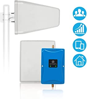 Cell Phone Signal Booster Antenna for Home and Office - Boosts 4G LTE Voice and Data for Verizon AT&T T-Mobile - Dual 700MHz Band 12/13/17 Cellular Repeater Amplifier Kit Cover Up to 5, 000Sq Ft