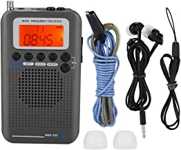Ciglow Portable Radio, Aircraft Band Radio Receiver VHF Portable Full Band Radio Recorder Pocket Travel Transistor Radio Stereo Receiver.(Black)