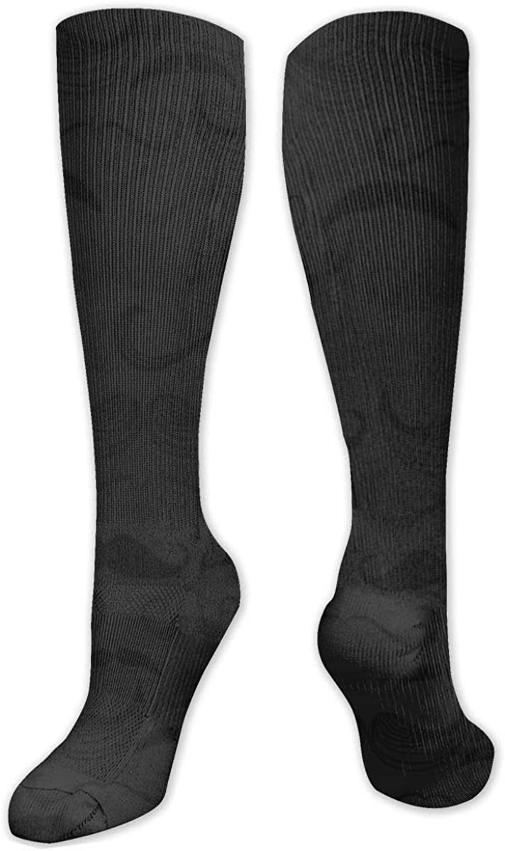 Many Black Moustache Pattern Knee High Socks Leg Warmer Dresses Long Boot Stockings For Womens Cosplay Daily Wear