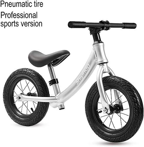 CHRISTMAD 10 ''   Bike Enfants Bicycle 2-5 Ans Enfants Siège De Guidon Réglable Apprendre à Rouler Sports   Bike Ride on Toys,argent