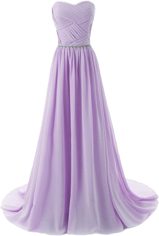 JoyVany Women Sweetheart Long Bridesmaid Evening Prom Dresses 2018 Formal Gowns Lavendar Size 26W