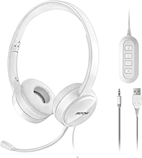 c56f8d7dfcc Mpow Auriculares con Micrófono y Cable de 2,4 Metros, Auriculares USB de  Reducción