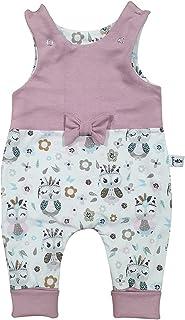 Sharlene Baby Strampler Waschbär Rose - Schleife Weiss Strampler Babystrampler Neugeborenen Strampler Mitwachsgrößen Größe 50-62, 68-74 und 80-92
