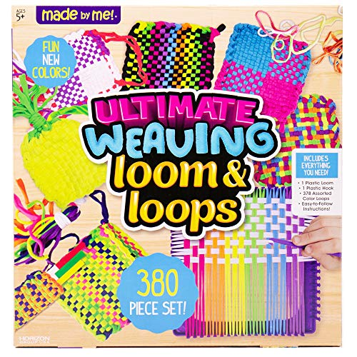 Made By Me Ultimate Weaving Loom by Horizon Group Usa, Includes Over 380 Craft Loops & 1 Weaving Loom (Amazon Exclusive), Multicolor