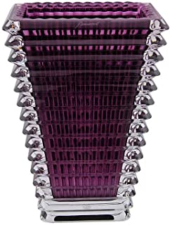 Baccarat Eye Purple Small Rectangular Vase 2802305