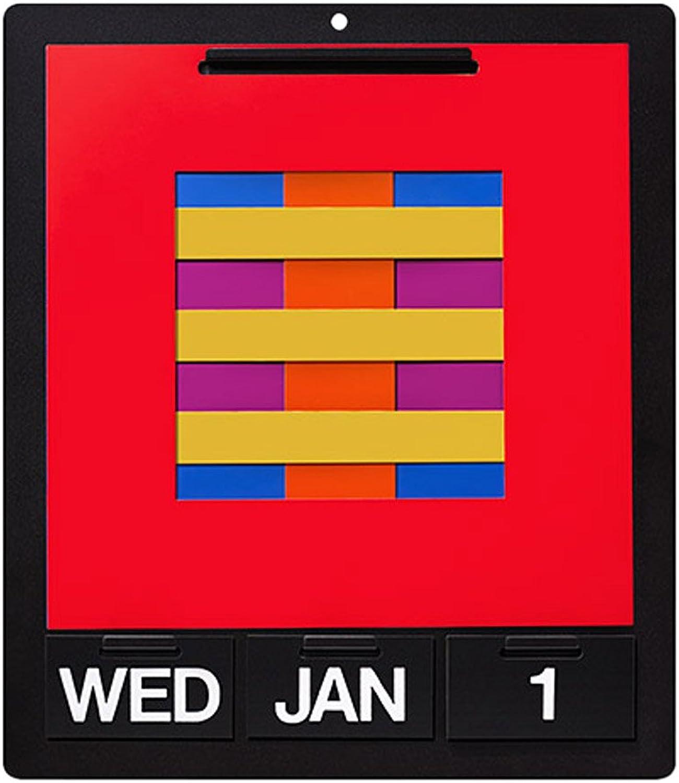 MOMA Ewiger Wandkalender, Metall, Kunststoff, PVC, bunt 36 x 43 cm B00L2PPZAM | Hochwertig