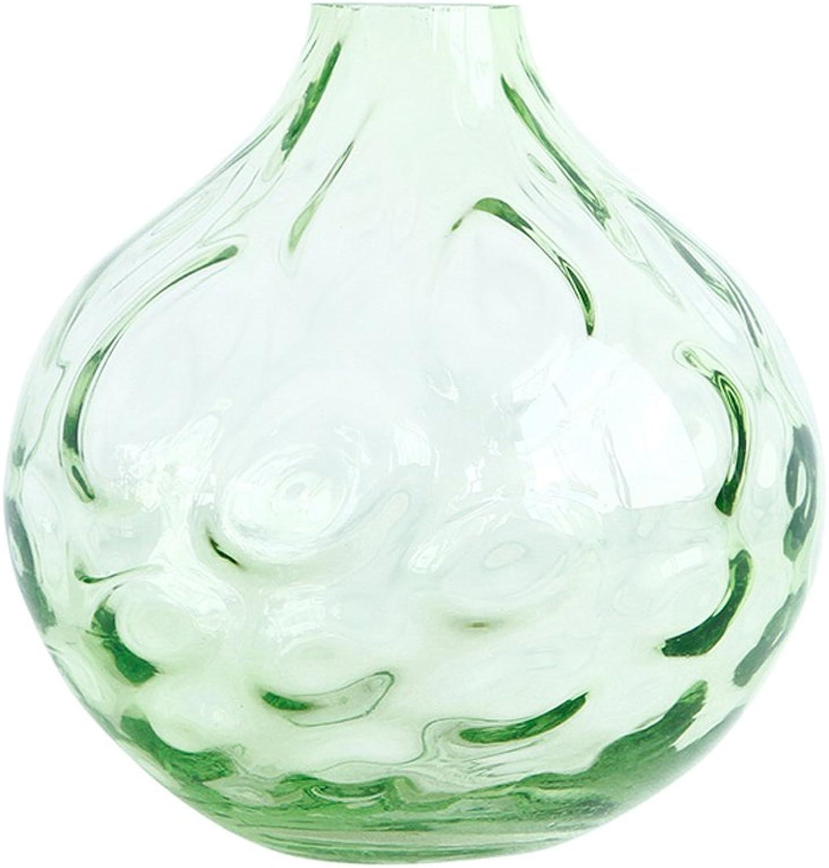 Vases GAODUZI Moderne Minimaliste Vert Ronde en Verre au Sol Taille Salon Inséré (Taille   45  33cm)