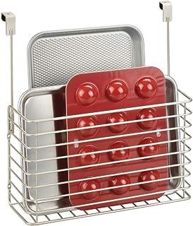 mDesign étagère à suspendre – petite étagère pratique pour placard de cuisine – accessoire de rangement pour planche à déc...