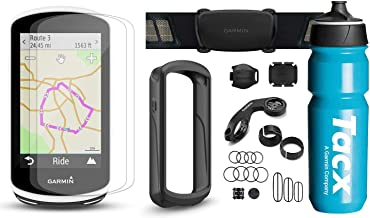 Garmin Edge 1030 Cyclist Bundle with Chest HRM, Speed/Cadence Sensors, TacX/PlayBetter 750ml Water Bottle, Silicone Case & Screen Protectors | Bike Mounts | Bike GPS Computer (Black + Sensors)