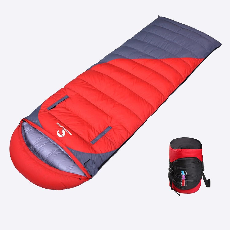 OUTDOOR COCO Umschlag Schlafsack Gänsedaunen halten Warm Ultralight Camping Frühling Herbst Winter Erwachsene Doppel Liebhaber (Farbe   Rot, größe   1.5kg) B07CMCM64J  Viele Sorten