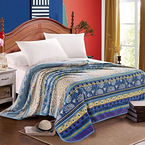 Couvertures Blanket Blanket Chambre Air conditionné Printemps Et Automne Motif Floral Doux Et Confortable Taille: 150 * 200cm
