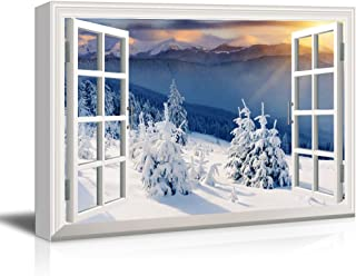 Snow Mountain Scene