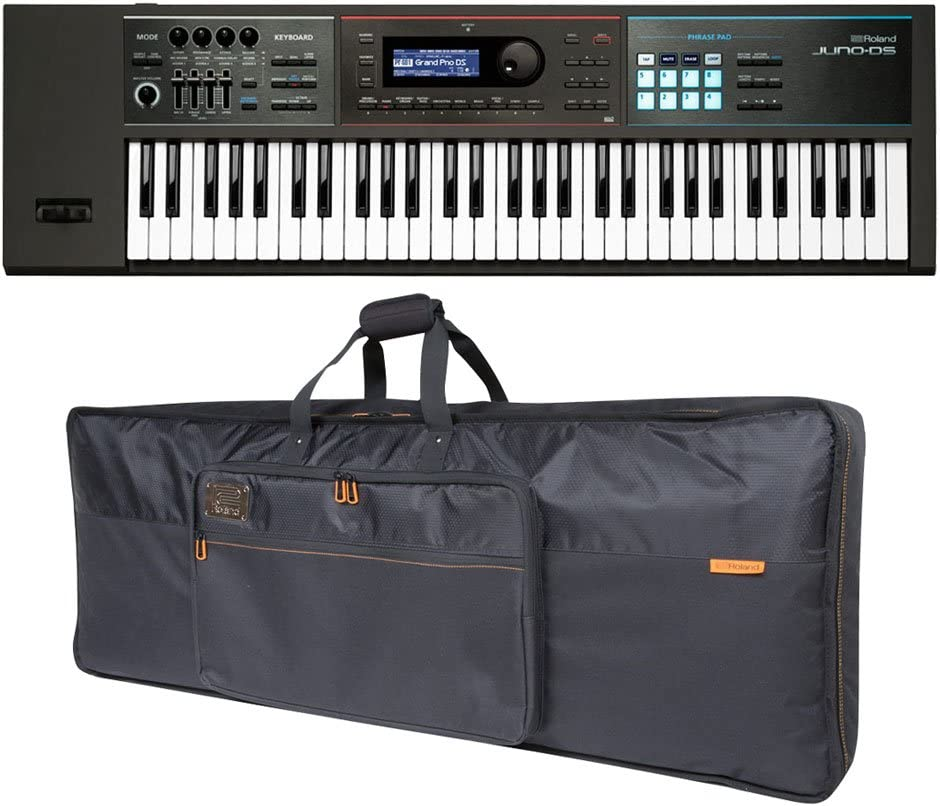 Roland JUNO-DS61 61-key Synthesizer and Over item handling Premium Black Credence Key Series