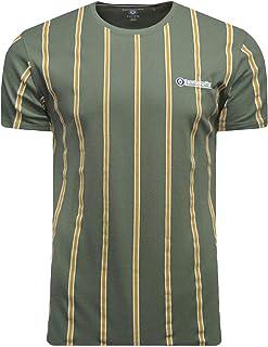 Lambretta Stripe T-Shirts Mens Pique Retro Vintage Baseball Tops Tee UK S-4XL