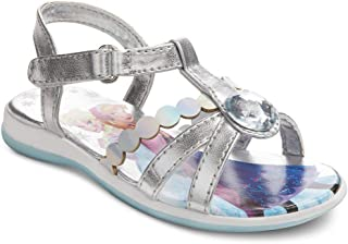 Disney Frozen ELSA Anna Girls Toddler Silver RHIMSTONE Sandal Shoes Various Size