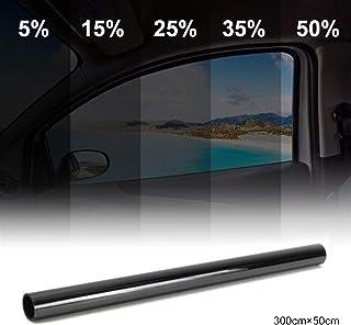 طبقة لاصقة جديدة بلون أسود غامق لنافذة السيارة 5% - 50% لفة صيفية السيارات المنزلية نوافذ زجاجية واقية من أشعة الشمس (الحج...