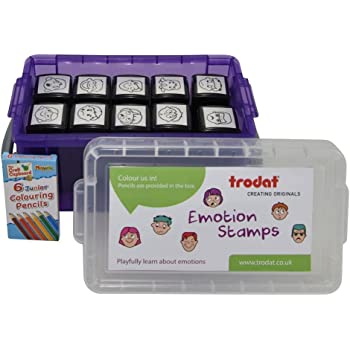 Trodat Printy 4933 Emotion Stamps (Pack of 10)