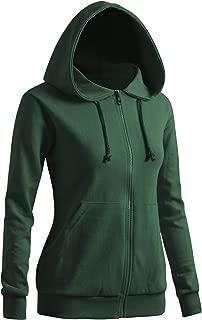 Women's Casual Zip-up Hoodie Basic Long Sleeve Hoodie