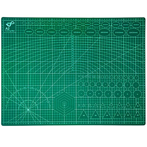 QILZO Tabla de Corte A2 Doble Cara Plancha de Corte 3 capas para Costura y...
