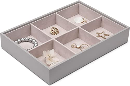 Vlando Miller Jewelry Tray-Six Compartment,Multiple Color Combinations, Large Capacity Multi-Layer Design and Fashion...