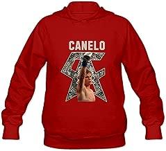 DASY Women's O-neck Boxer Canelo Alvarez Fox Hoodie Large Red