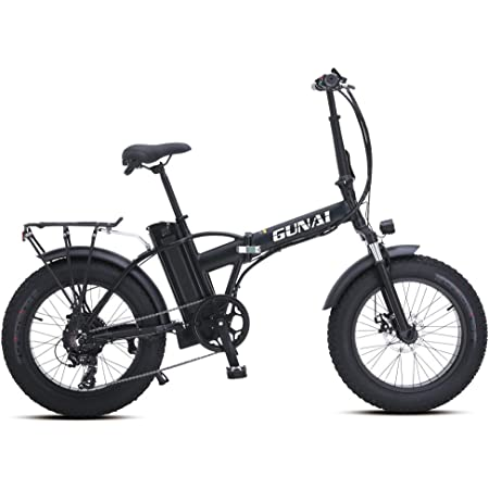 GUNAI Bicicleta Eléctrica 500W 20 Pulgadas 48V 15Ah Neumático Gordo Ciclismo de Playa Bicicleta de Montaña Suspensión Completa MTB Ebike 7 Velocidad ...