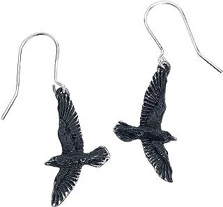 Alchemy Gothic Black Raven Pair of Earrings