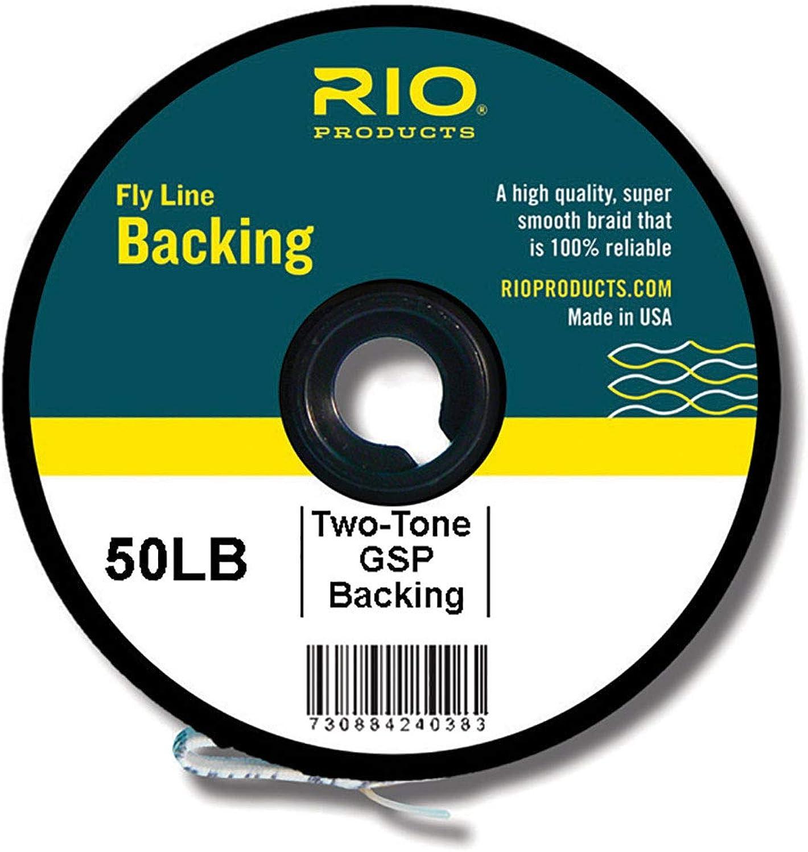 Rio Fly Angeln Unterstützung zweifarbig Gel gesponnen, 22,7 500 YD. Fliegenbinden Equipment, klar B0160BOE68  Verschleißfest