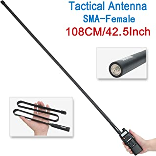 $20 » 42.5-Inch Length ABBREE SMA-Female Dual Band 144/430Mhz Foldable CS Tactical Antenna for Baofeng UV-5R UV-82 BF-F8HP Ham T...