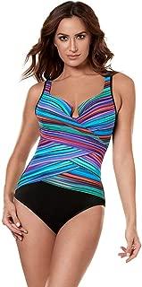 Miraclesuit Women's Swimwear True Colors Layered Escape Sweetheart Neckline Underwire Bra Tummy Control One Piece Swimsuit