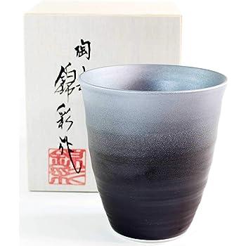 有田焼陶器 伝統工芸 窯変プラチナ彩焼酎グラス|贈答品|記念品|ギフト|プレゼント|陶芸家 藤井錦彩
