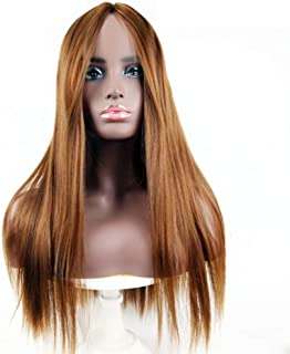 Nkns Women'S Wig Long Straight Hair Wig In The Bangs Wig High Temperature Chemical Fiber Wig Light BrownWigGrip Band