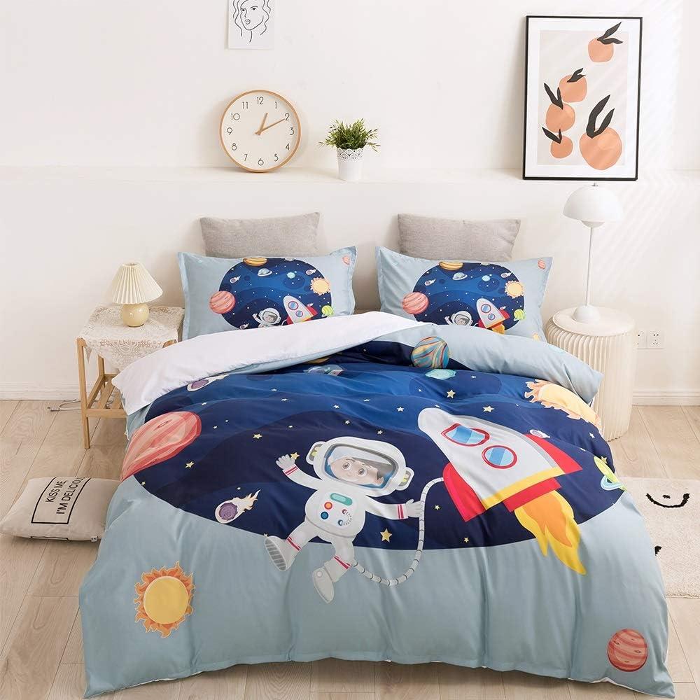 Fvfvfv Children's Astronaut Theme Three-Piece Sale Special Price Bedding The Branded goods Best