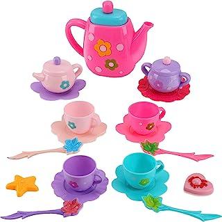 Liberty Imports Princess Royal Tea Set Pretend Playset | Kids Tea Party Play Food Accessories Kitchen Toy Teapot Gift Set ...