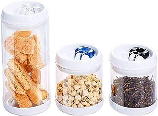 Lot de 3 boîtes de rangement pour cuisine - Matériau hautement transparent - Bouteille en verre scellé - Réservoir de rang...