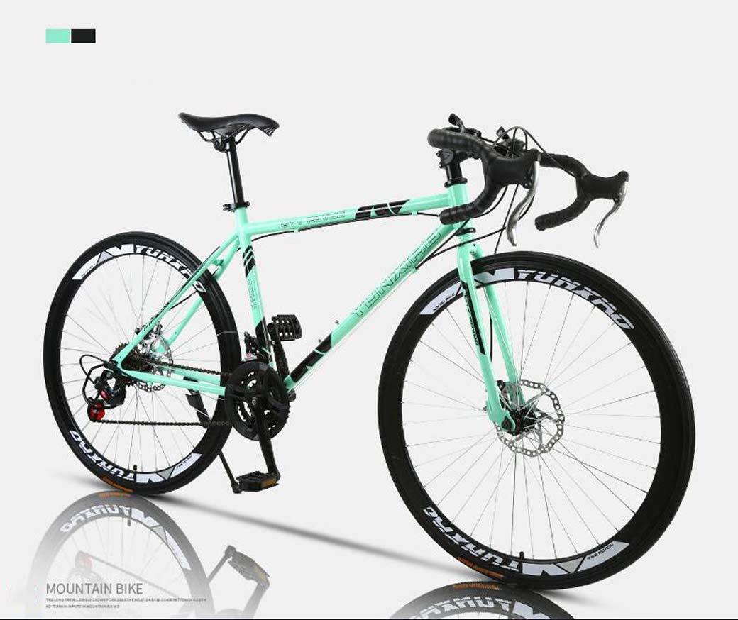 Bicicleta de carretera, bicicletas de 26 pulgadas y 24 velocidades, freno de doble disco, cuadro de acero con alto contenido de carbono, carreras de bicicletas de carretera, hombres y mujeres adultos: Amazon.es: