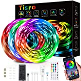Waterproof Led Lights for Bedroom 50 Feet, Led Strip Lights with App Control and Remote, Music Sync Color Changing Led Light Strips for Room, Bedroom, Kitchen, Yard, Party and Christmas